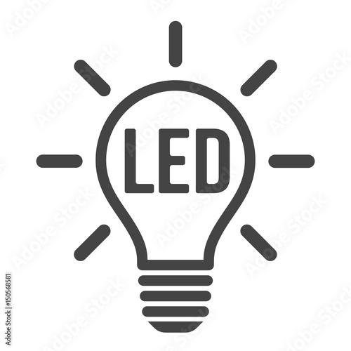 LED light bulb icon Canvas Print