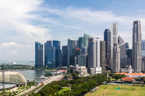 Spoed Foto op Canvas Chicago Singapore Downtownand skyline