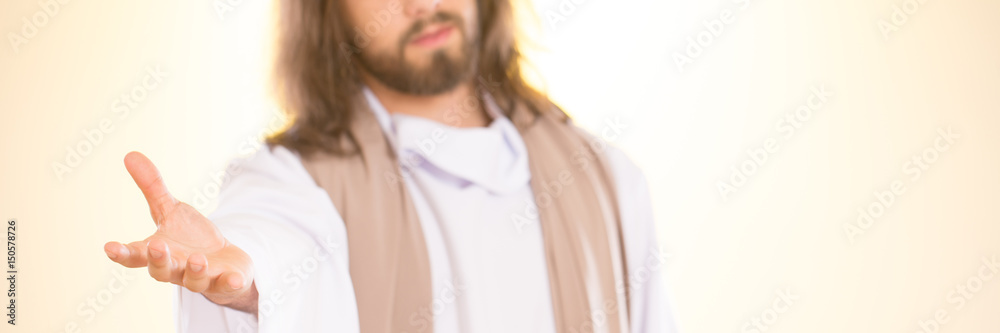 Fototapety, obrazy: Jesus reaching out his hand