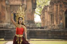 A Beautiful Woman In Dancer Ap...