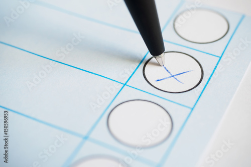 Voting paper or ballot paper with pen Wallpaper Mural