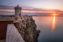 Sunset Over The Sea In Piombino