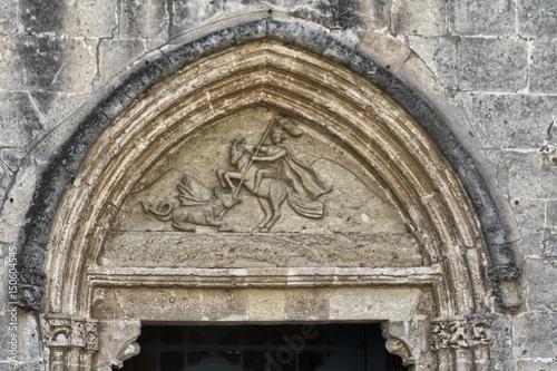 Architrave della Chiesa di San Giorgio a Sestu. Sardegna Wallpaper Mural