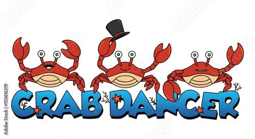 Foto op Plexiglas Hemel crab dancer logo