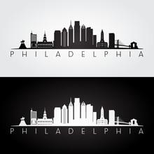 Philadelphia USA Skyline And L...