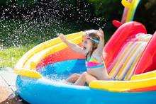 Child In Garden Swimming Pool ...