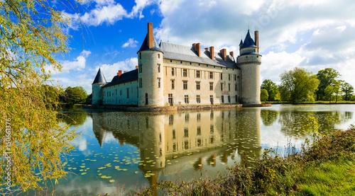 Romantic medieval castles of Loire valley - beautiful Le Plessis Bourre Canvas Print