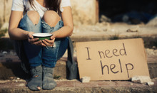 Poor Woman Begging For Help On...