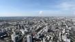 Bird eye view, landscape of Bangkok's city Thailand.