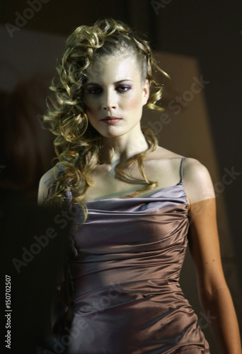 1a977d2f65b7 A model displays a creation by hair stylist Josep Pons during a  presentation by L