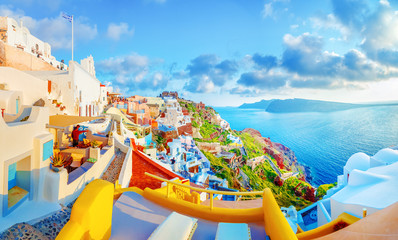 Breathtaking scenery of Oia...