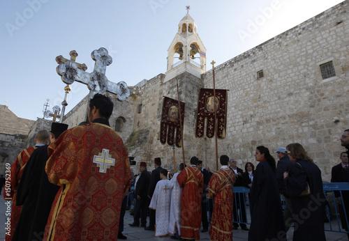 Eastern Orthodox Christmas.Members Of Clergy Take Part In Eastern Orthodox Christmas