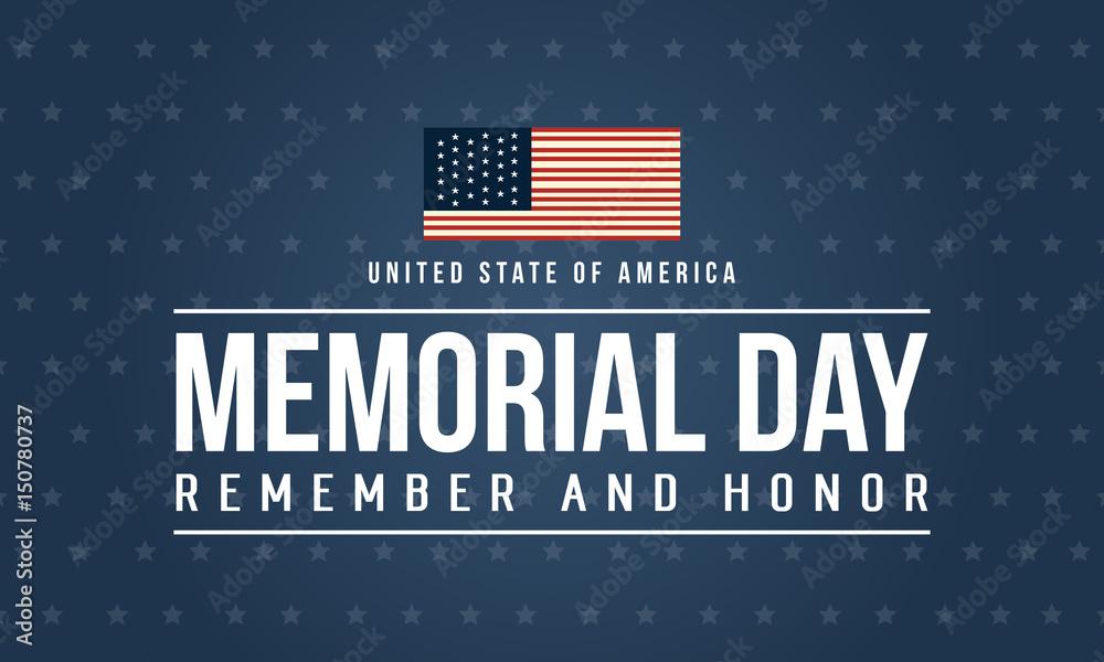 Fototapety, obrazy: Happy memorial day theme background