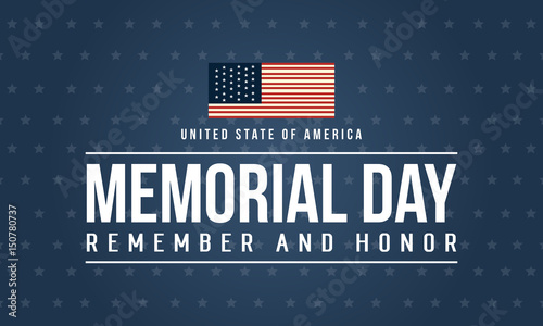 Fotografie, Obraz Happy memorial day theme background