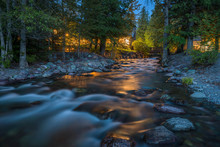 Snyder Creek At Night - A Spri...