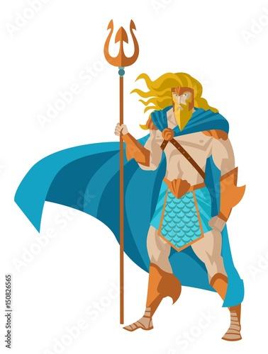 poseidon neptune god of the sea Canvas Print