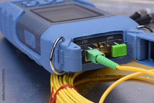 Fiber optic network cable testing