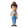 Woman worker cartoon icon vector illustration graphic design