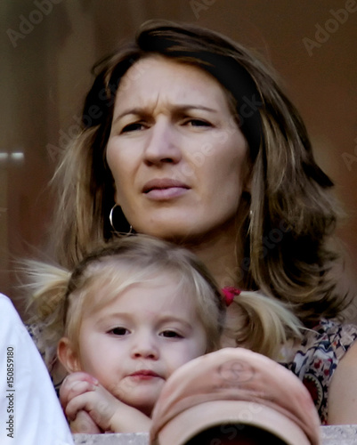 Steffi Graf And Daughter Jaz Elle Watch Agassi Of The Us Play