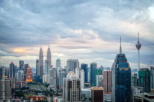 Obraz na plátne Aerial view of Kuala Lumpur skyline, Malaysia