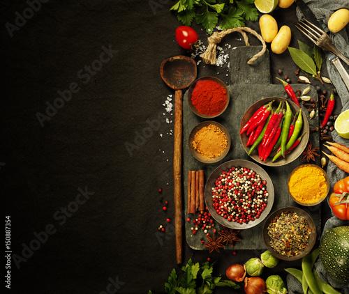 Foto auf AluDibond Gewürze Fresh ingredients