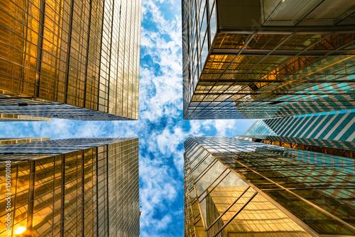 Photo  Hongkong, China, financial center