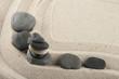 Sea stones in the sand