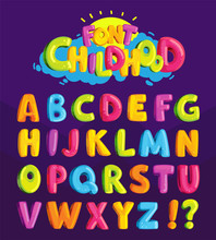 Children's Font In The Cartoon...