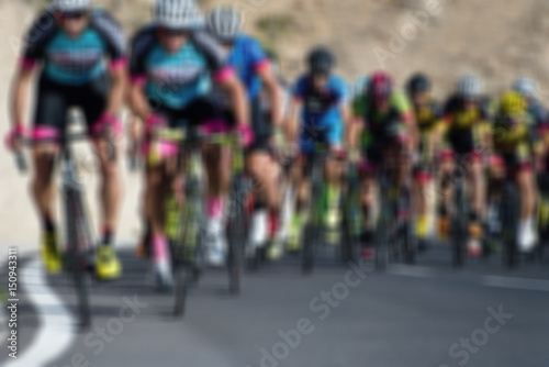 Foto op Aluminium Cycling competition,blur image of asphalt road and bike