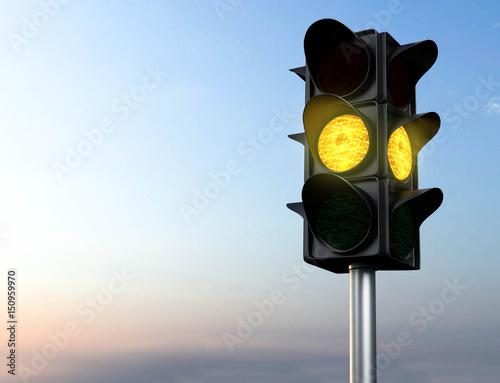 gelbe Ampel Fototapete