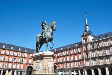 Statue of Philip III on Plaza Mayor