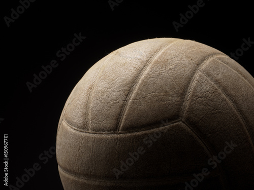Close up of a vintage volleyball