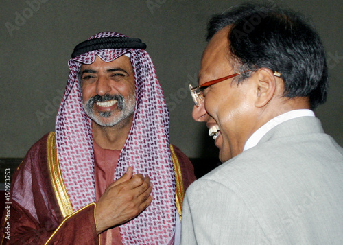 Sheikh Nahayan, owner of Abu Dhabi Group, smiles with