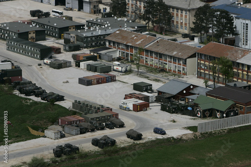 General view of the German EUFOR Rajlovac military base at the