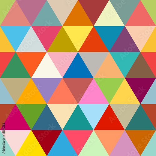 Keuken foto achterwand ZigZag Seamless Triangles Retro Pattern Color