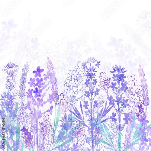 kwiecisty-tlo-z-lawendowymi-kwiatami-i-miejsce-dla-teksta-akwarela-ilustracja-na-bialym-tle-zaproszenie