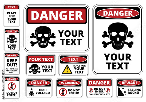 Danger Sign Templates  Buy this stock template and explore similar