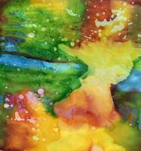 Material Dyed Batik. Shibori Batique Taxture. Watercolor Background