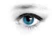 canvas print picture - blaues auge