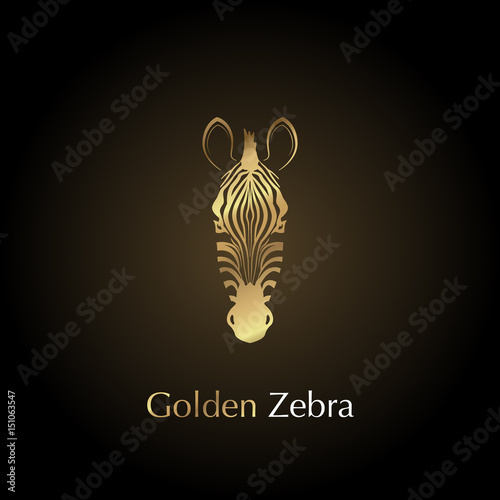 Photo  Logo golden head of a zebra.