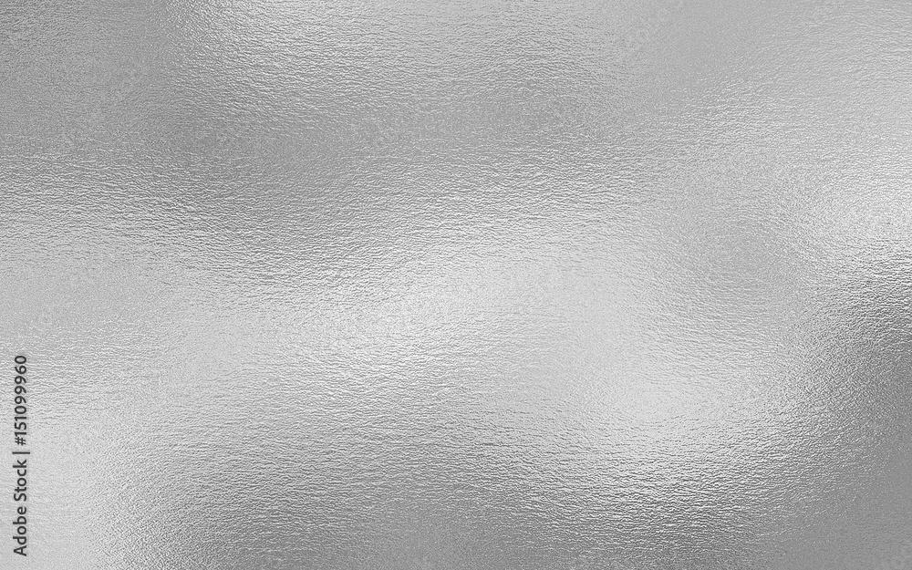Fototapety, obrazy: Silver foil decorative texture background