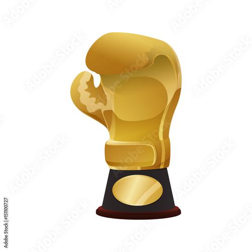 Fotografía  Boxing trophy championship icon vector illustration graphic design