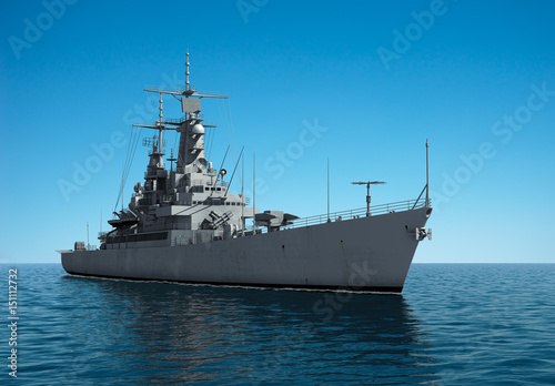 Canvas Print American Modern Warship In The High Seas