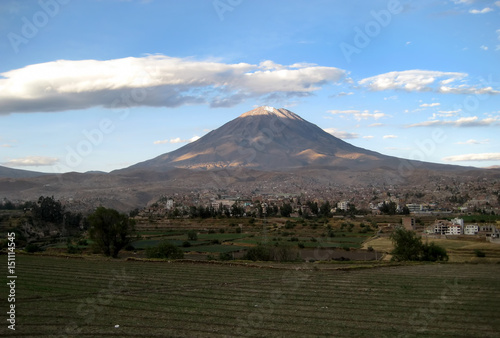 Misti volcano above Arequipa, Peru