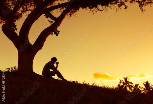 Fotografie, Obraz  Feeling desperate and praying concept.