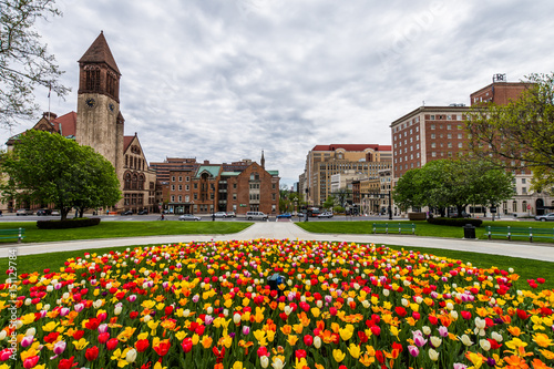 Photo Capitol Building Area in East Capitol Park in Albany, New York