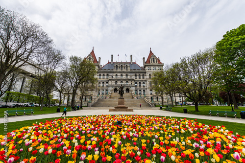 Fotografie, Obraz  Capitol Building Area in East Capitol Park in Albany, New York