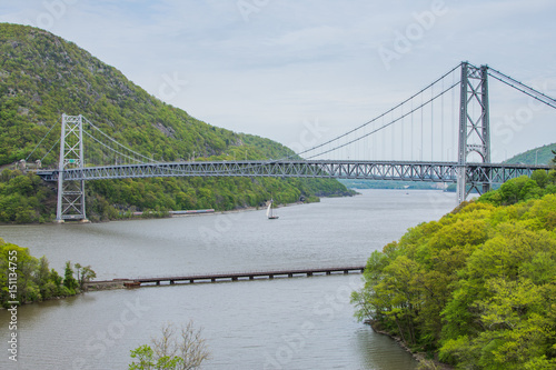 Fotografia, Obraz  Skyline of Bear Mountain State park From Fort Montgomery in Upstate New York