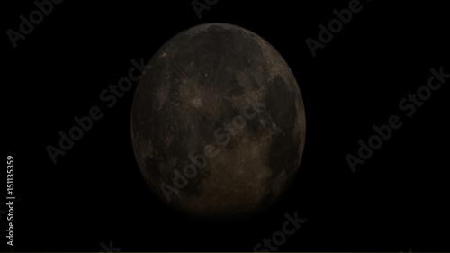 Zdjęcie XXL Księżyc strzelający z jasnym niebem