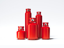 Red Different Types Of Gas Bot...